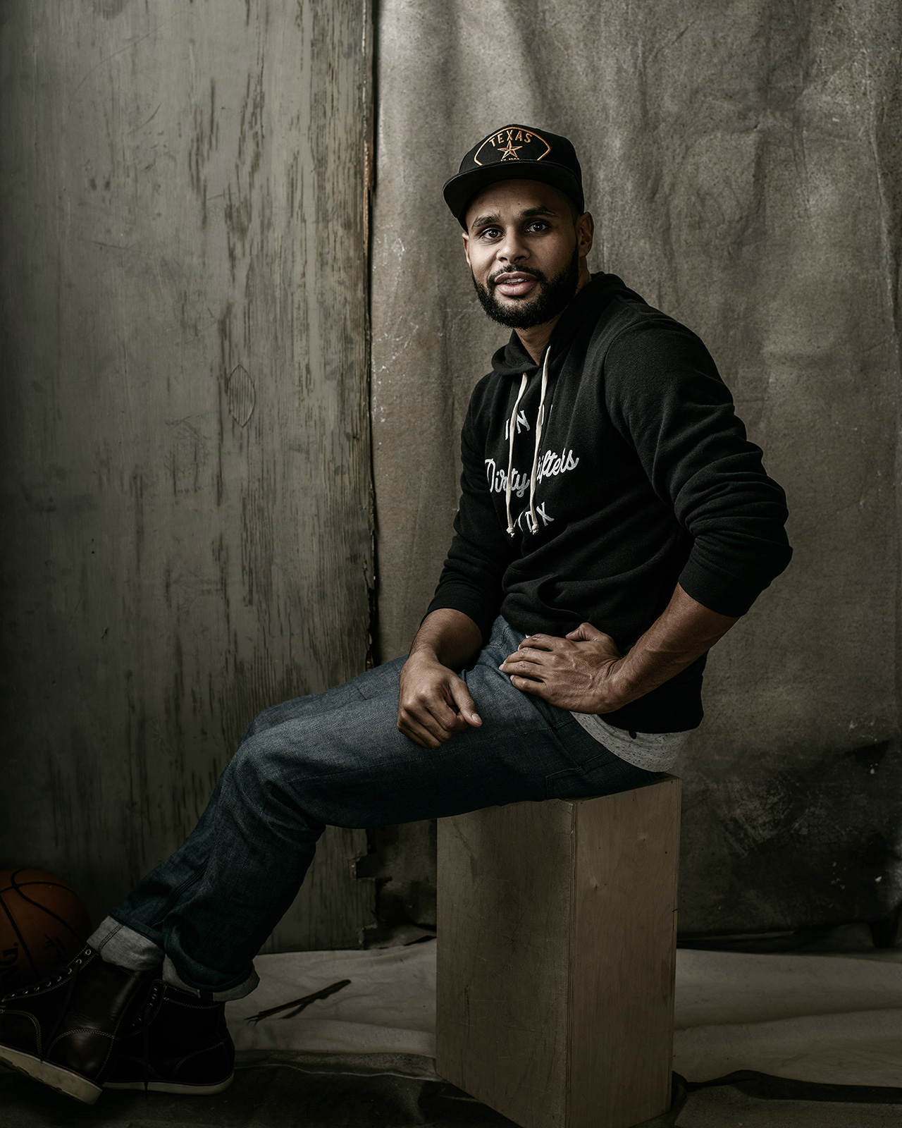 NBA player, Patty Mills, photographed by Josh Huskin.