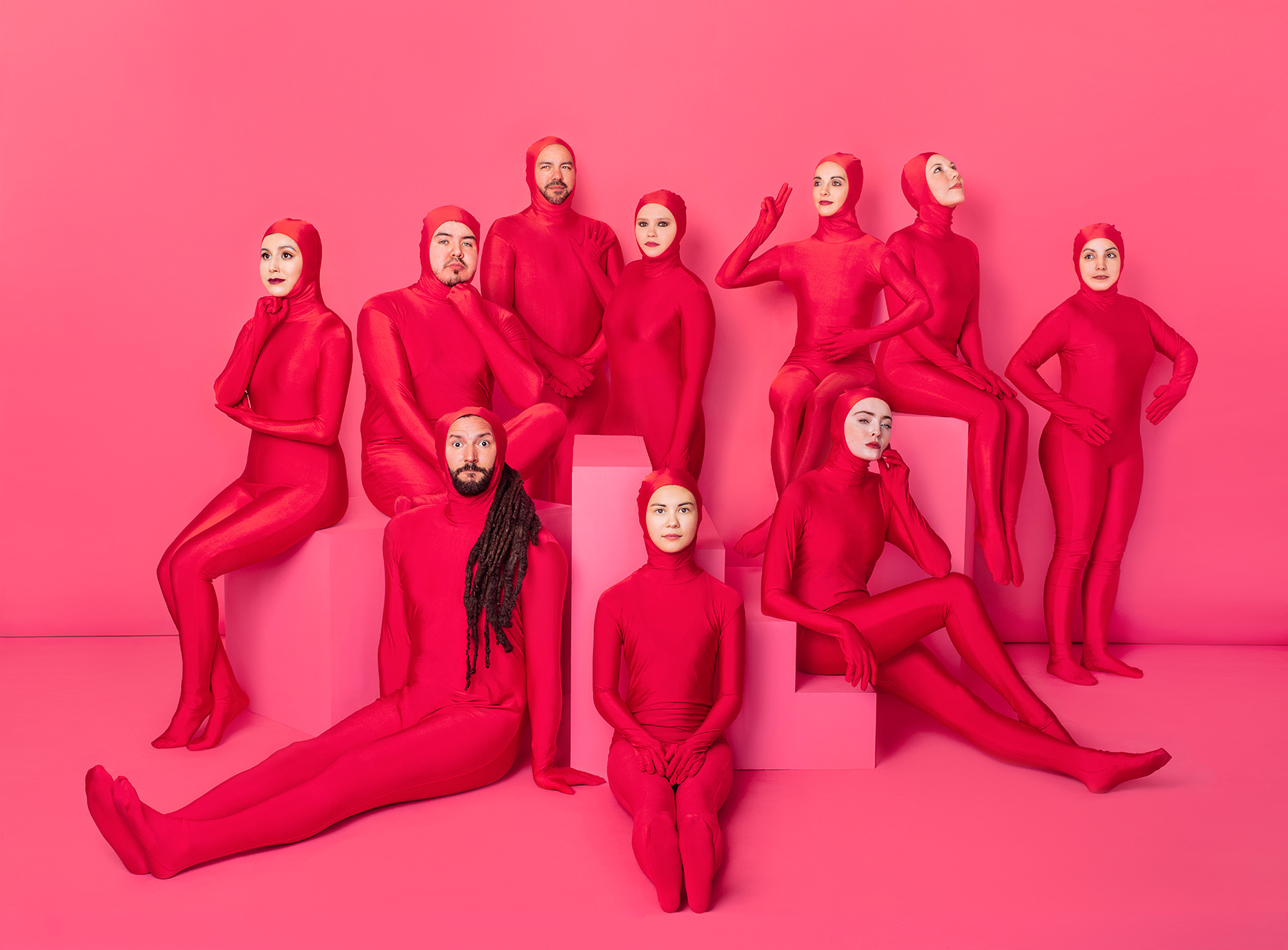 Conceptual Group Portrait of Chamoy Creative by Advertising Photographer Josh huskin