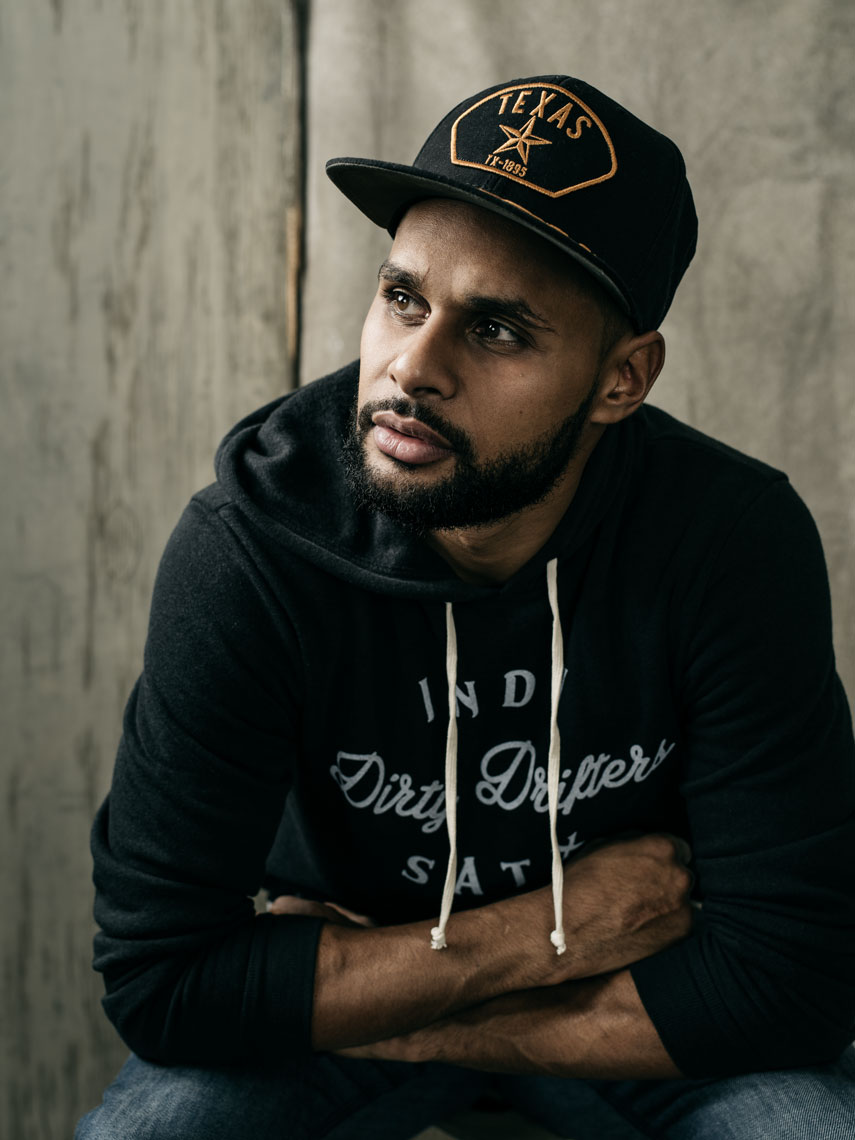 Patty Mills, point guard for the San Antonio Spurs photographed by Texas Editorial Photographer, Josh Huskin.