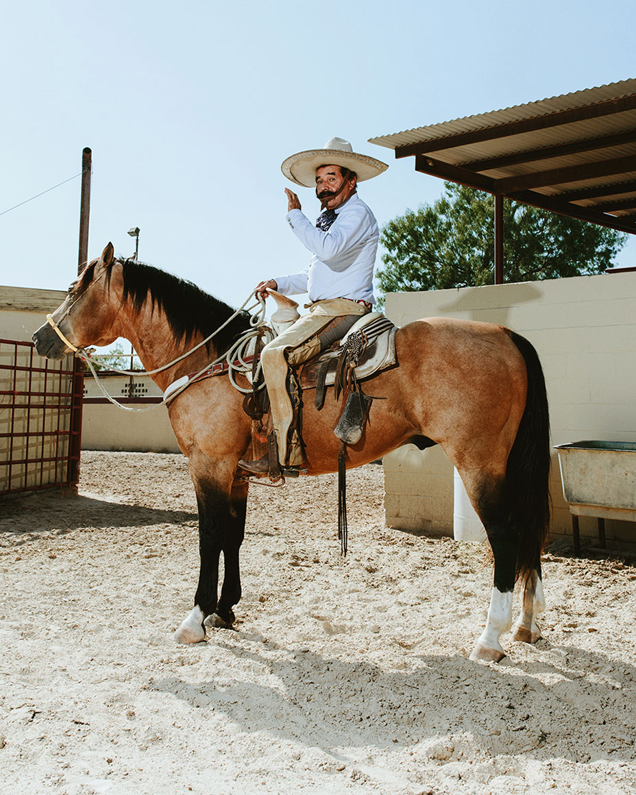 Charreada Portrait taken in San Antonio, Texas by portrait photographer Josh Huskin for The Rivard Report.