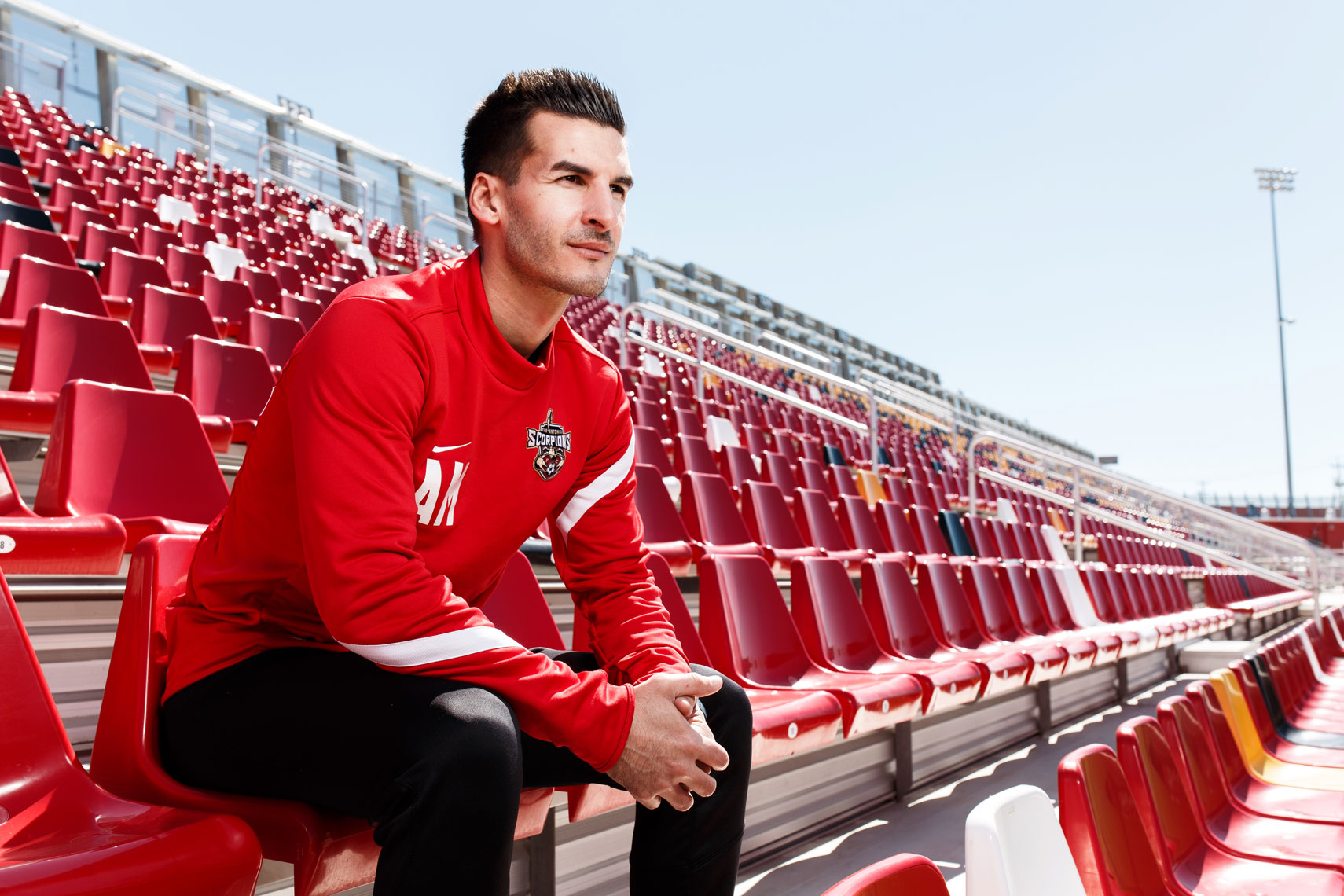 Alen Marcina, Head Coach of the San Antonio Scorpions, photographed in San Antonio, Texas by Editorial photographer Josh Huskin.