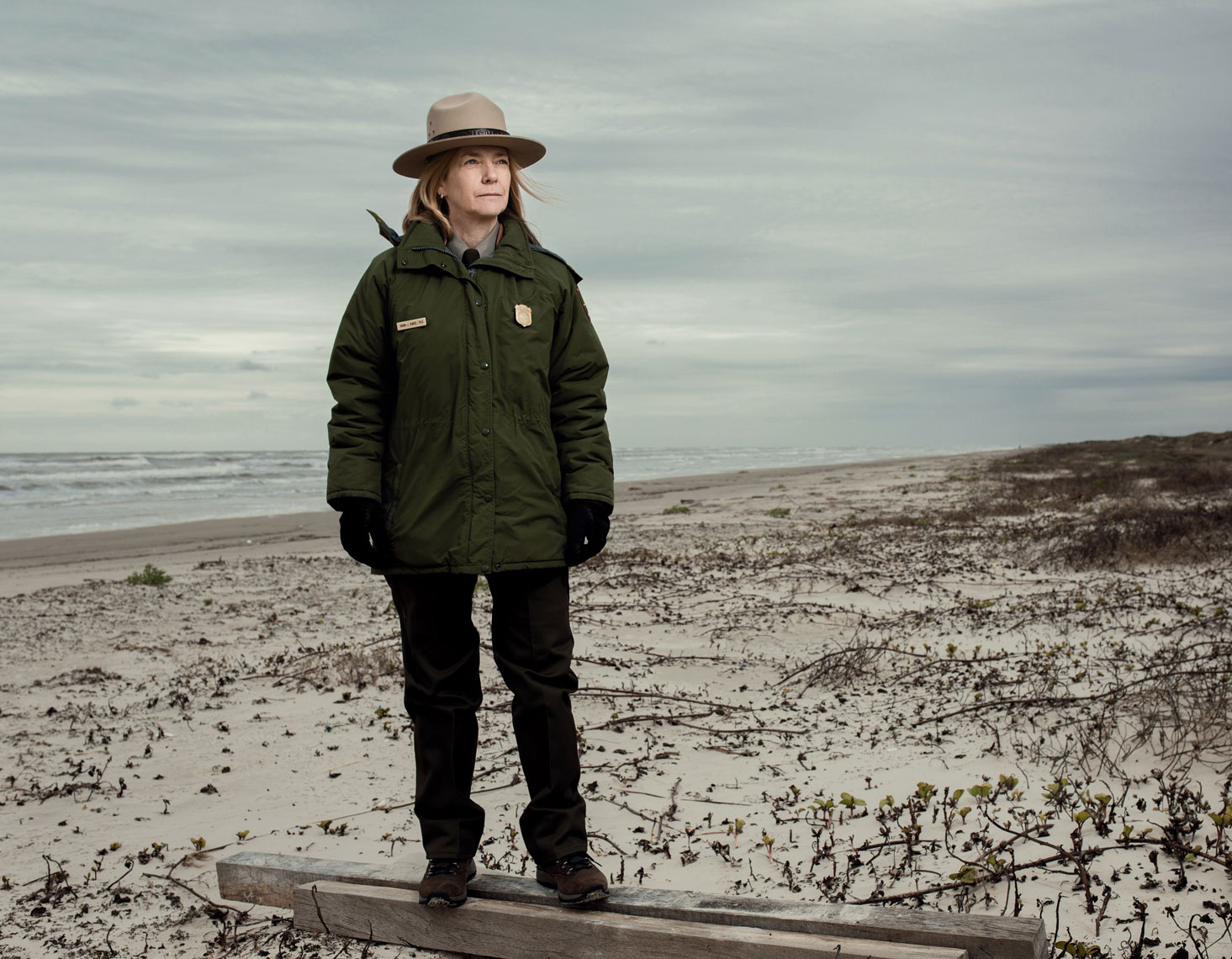 Dr. Donna Shaver from the National Parks at North Padre Island for The Houstonia. Photographed by Editorial and Commercial photographer Josh Huskin.