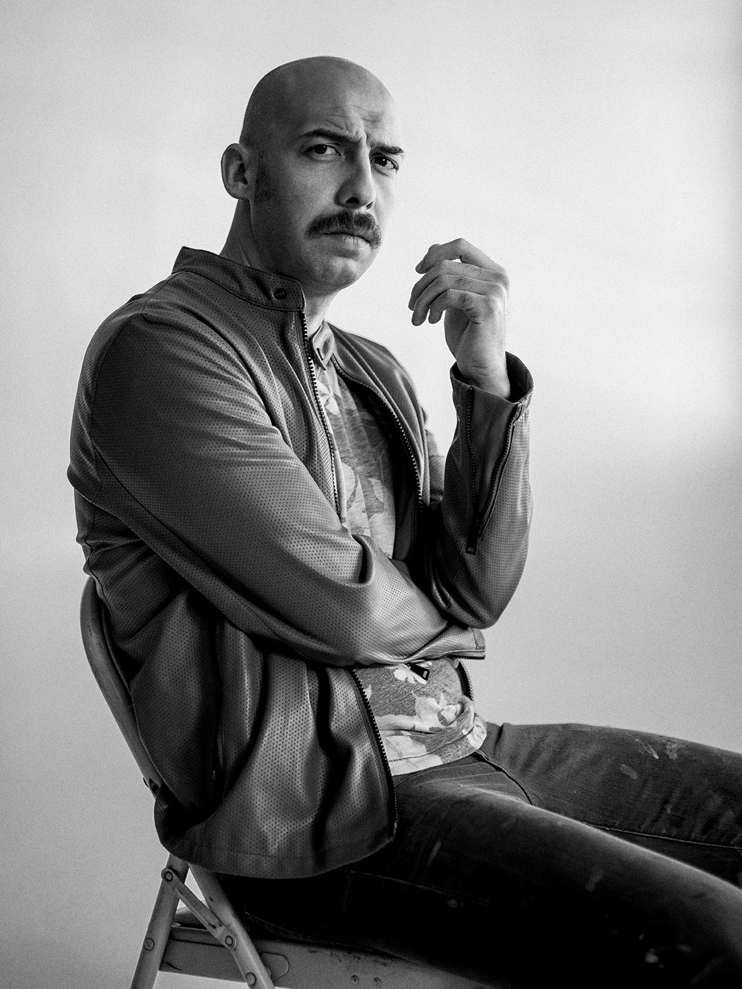 Jose Balli photographed at Eleven Hundred Collective Studio in San Antonio, Texas, by editorial and celebrity photographer Josh Huskin.