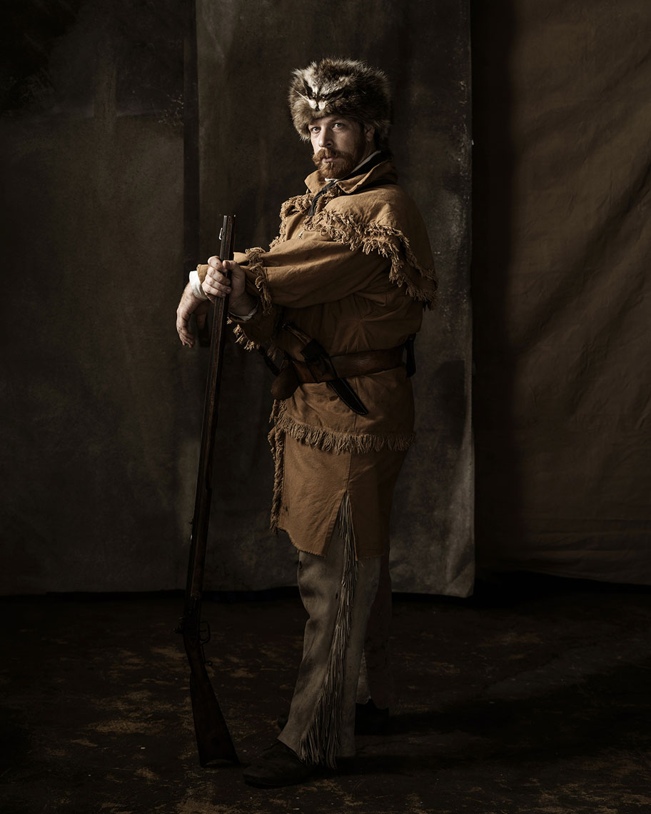 Ryan Badger, an Alamo living history portrayer, photographed by advertising photographer Josh Huskin.