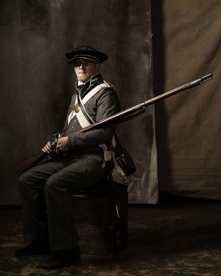 Scott Jones, living history portrayer for The Alamo, photographed in 2016 by Texas advertising portrait photographer Josh Huskin.