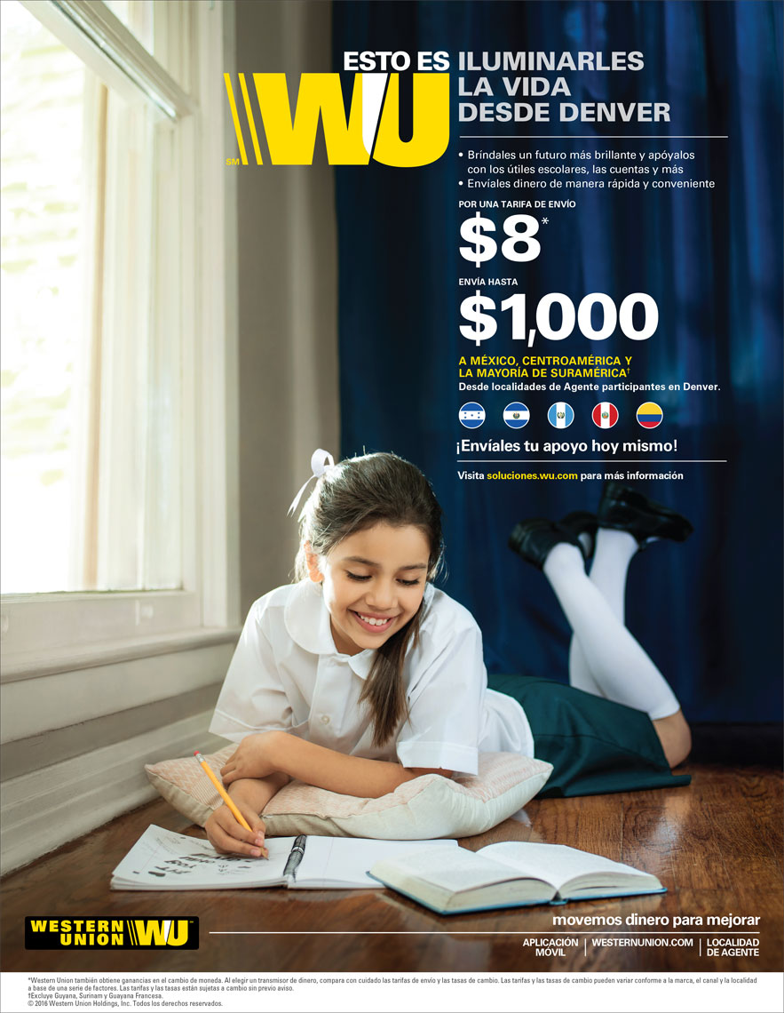Schoolgirl taking a selfie advertisement for Western Union Magazine. Photographed by advertising and editorial photographer Josh Huskin.