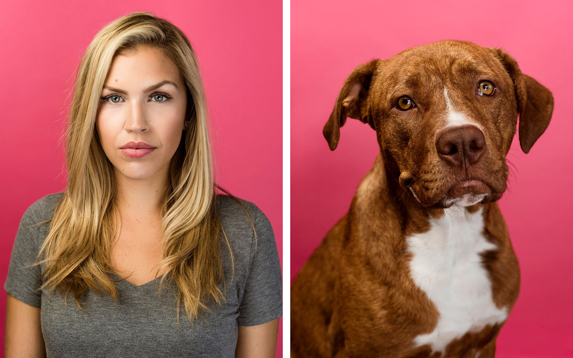 Portrait of Erica Whyte and dog, taken by Texas editorial and portrait photographer Josh Huskin.