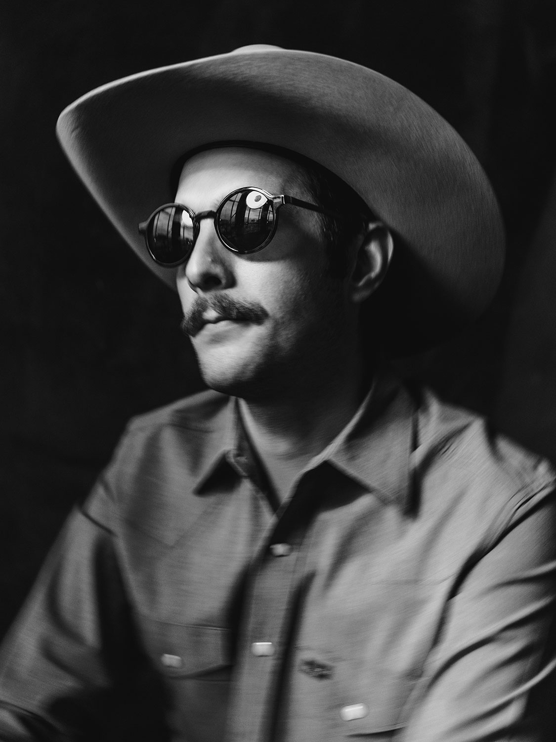 Musician Garrett T Capps photographed in San Antonio, TX by Editorial Photographer Josh Huskin.