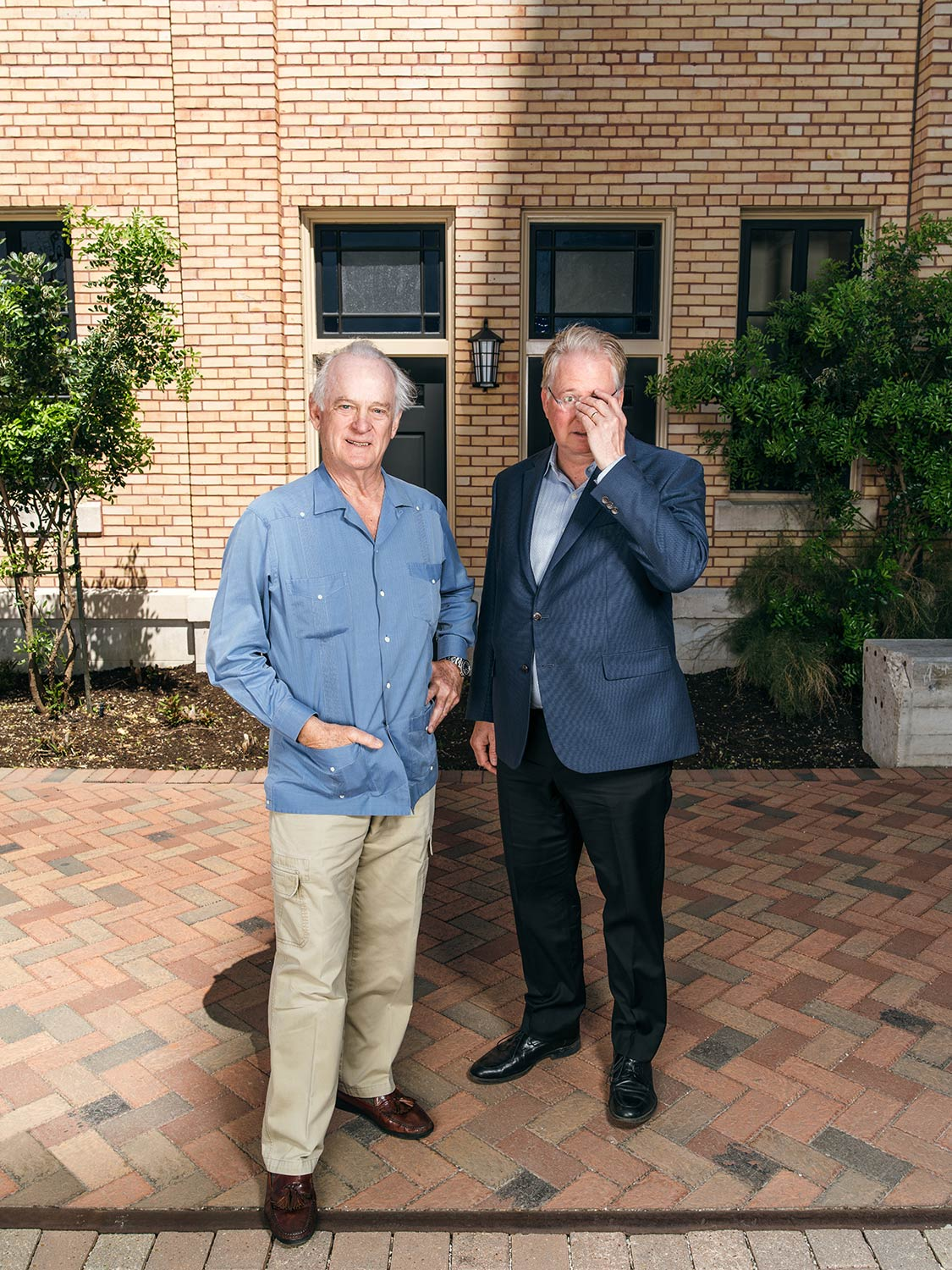 Kit Golsbury and Graham Weston photographed at The Pearl in San Antonio TX by portrait photographer Josh Huskin for Texas Monthly.