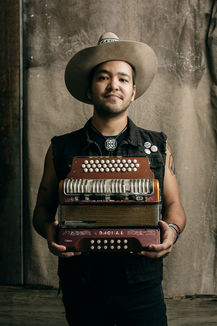Local musician Alvaro Del Norte photographed for the San Antonio Current by Texas editorial portrait photographer, Josh Huskin