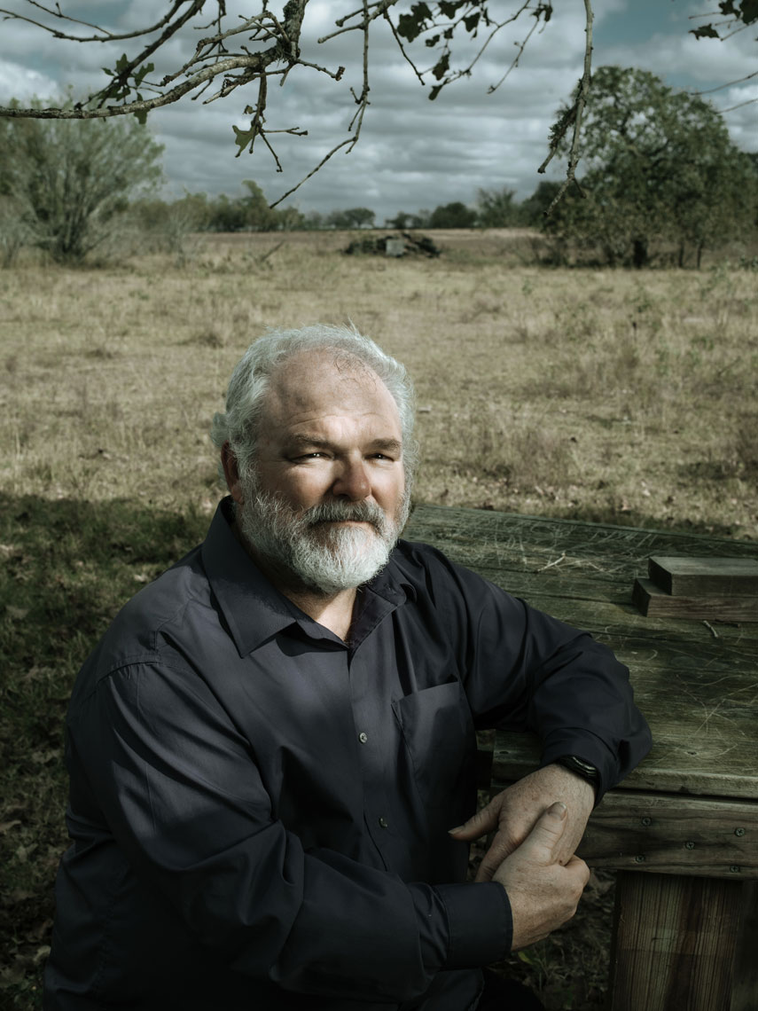 Stephen Willeford photographed by editorial photographer Josh Huskin in Sutherland Springs, Texas.