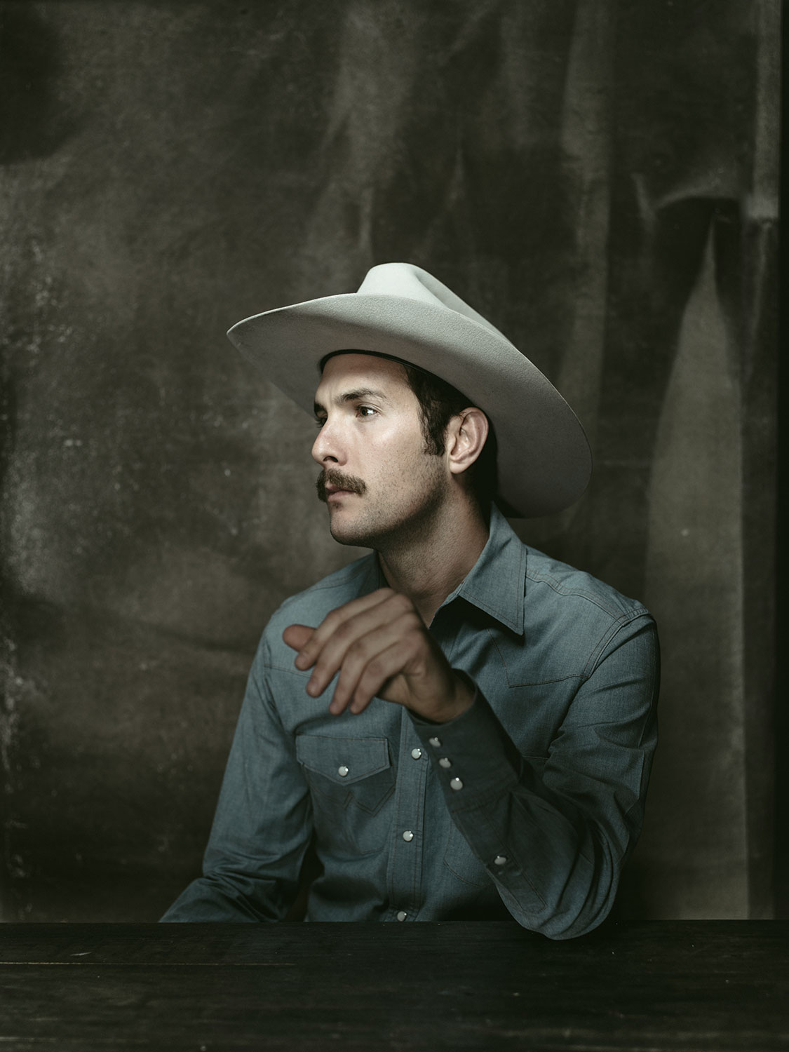 Texas Country Musician Garrett T Capps photographed in San Antonio, TX by Editorial Photographer Josh Huskin.