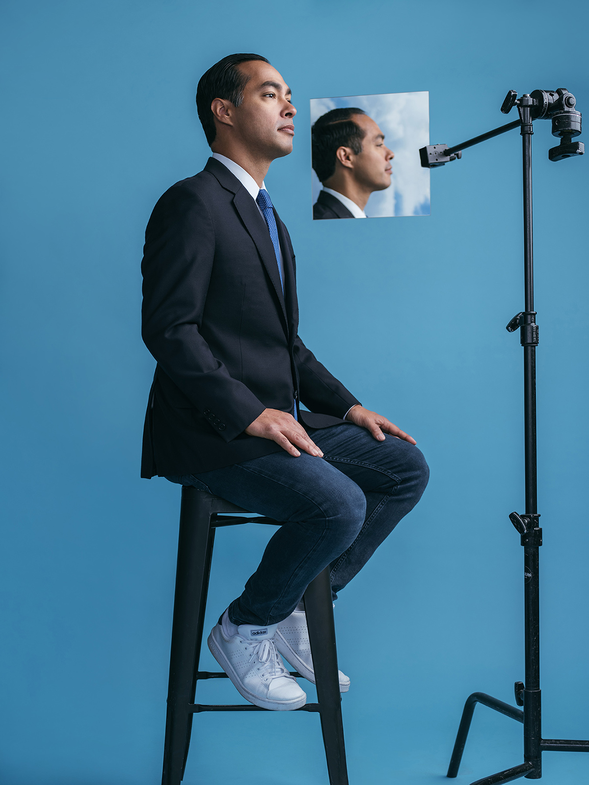 Presidential Candidate, Sec. Julian Castro, photographed in San Antonio, TX by portrait photographer Josh Huskin