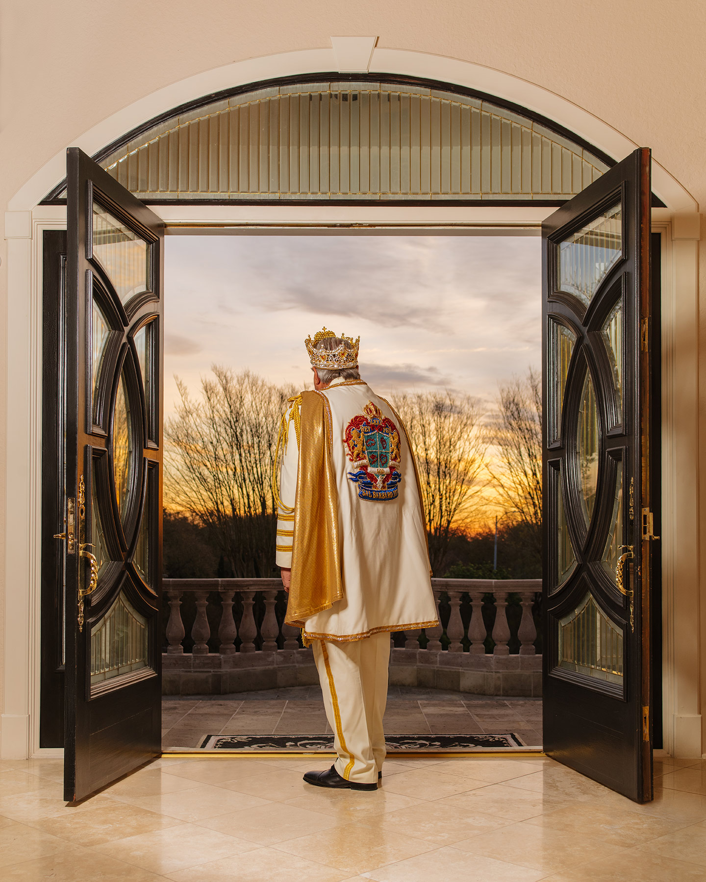El Rey Feo, Dr. Sal Barbaro, photographed in San Antonio, TX at his home at sunrise.