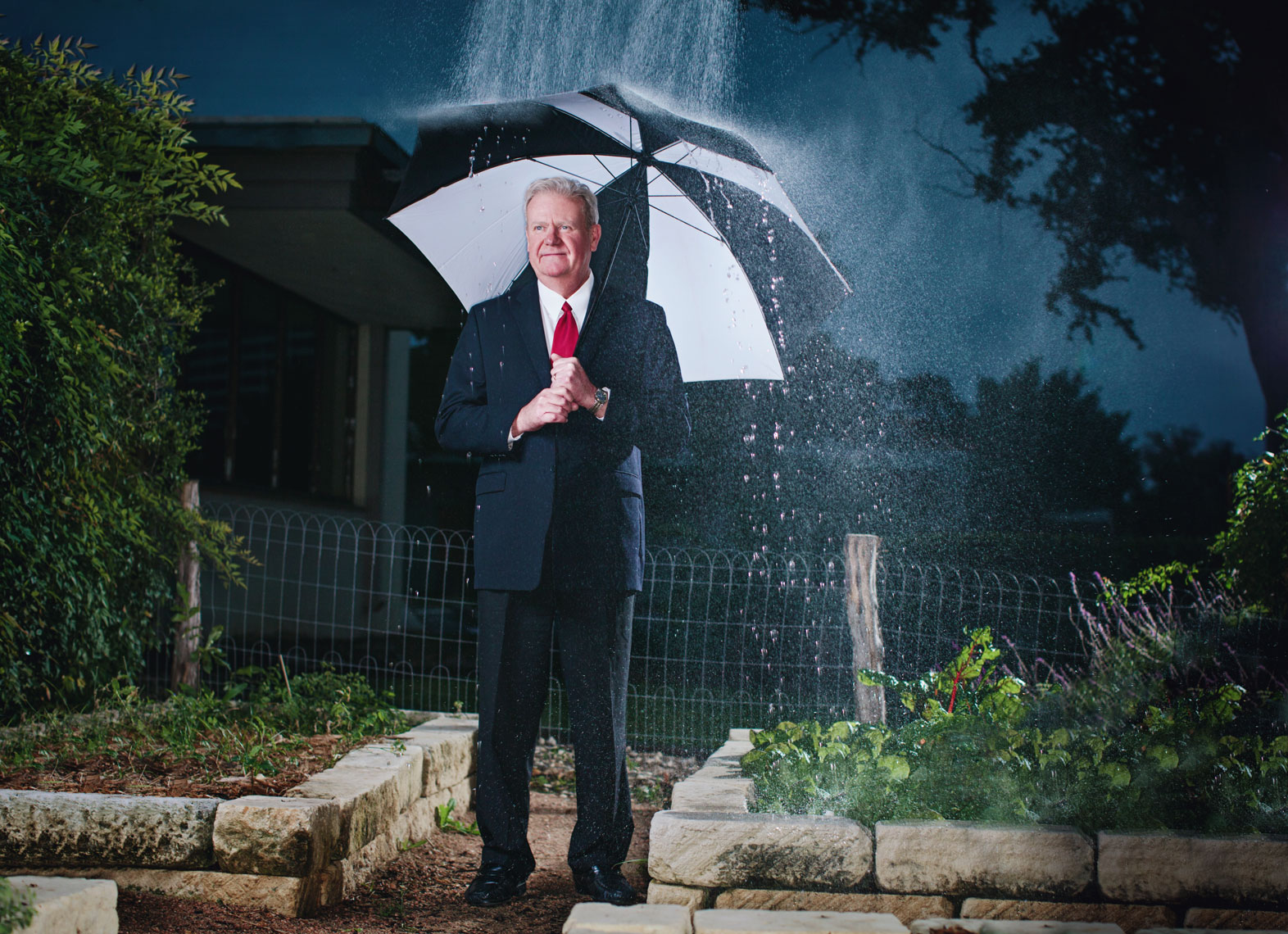 Steve Browne, KSAT Weather Man, photographed for San Antonio Magazine by Celebrity and Editorial Portrait photographer Josh Huskin.